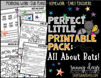 Bats  {Perfect Little Printable Pack}