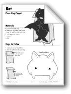 Bat Paper Bag Puppet
