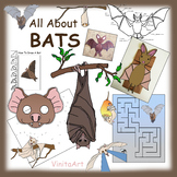Bat Paper Crafts, Activities, and Clip Art Collection