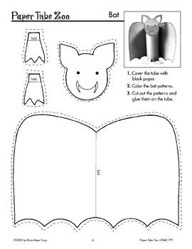 Bat Paper Tube Animal