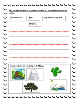 Bat Pockets. Integrated Unit. Primary, Kindergarten.