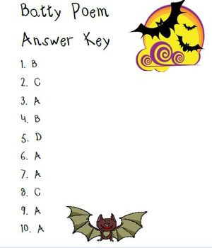 Bat Poetry with  Comprehension Questions