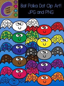 Bat Polka Dot Clip Art  Color Images