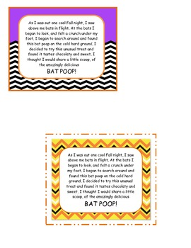 Bat Poop Treat Labels