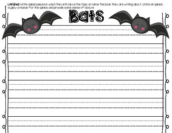 Bat Primary Writing Paper