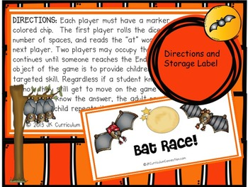 Bat Race Game FREEBIE!