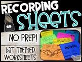 Bat Recording Sheets - Bat Worksheets
