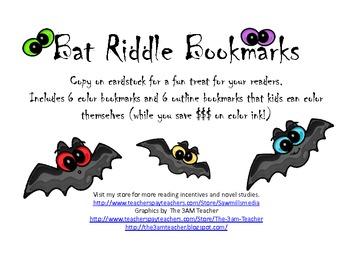 Bat Riddle Bookmarks