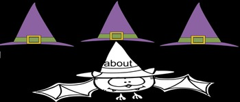 Bat Sight Word Smartbaord Game