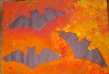 Bat Silhouette Painting