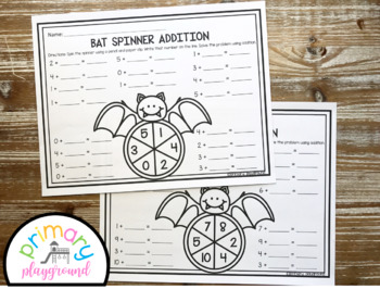 Bat Spinner Math Addition and Subtraction