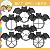 Bat Spinners Clip Art