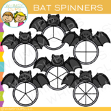 Bat Spinners Clip Art