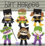 Bat Super Heroes Digital Clip Art