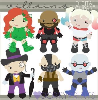 Bat Super Villains Digital Clipart