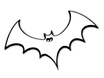 Bat Template for Art Project Bat Outline Halloween Bat Coloring Page Bat Picture