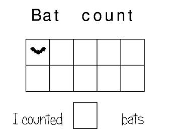 Bat Ten Frames Numbers 1-20