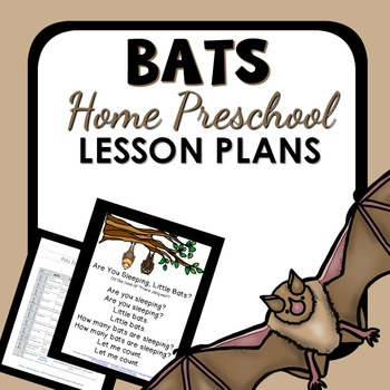 Bat Theme Home Preschool Lesson Plans