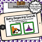 Bat Themed Beginning Sound Activities For GOOGLE CLASSROOM