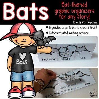 Bat-Themed Graphic Organizers {For Any Bat Story!}
