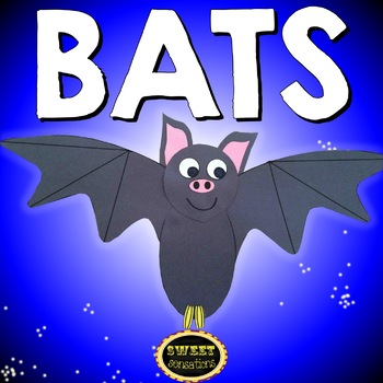 Bat Themed Graphic Organizers and Bat Craft Activity