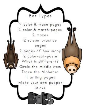 Bat Types Printable