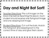 Bat Unit Materials: Day and Night Sort