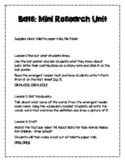 Bat Unit Plan - Mini Research Unit