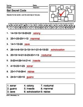 Bat Word Search, Secret Code and Word Scramble Printables