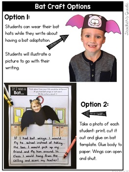 Bat Writing Activity, Craft, and Bulletin Board