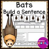 Bat Writing, Build a Sentence and Scrambled Sentence Cards