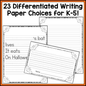 Bat Writing Craftivity for Halloween: Cut & Glue a Bat; Creative Writing