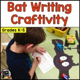 Bat Writing Craftivity for Halloween: Cut & Glue a Bat; Creative Writing K-5th