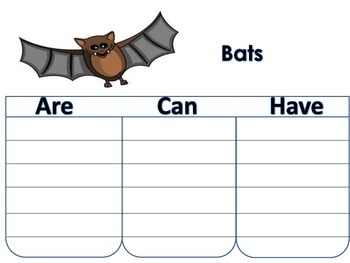 Bat Writing, Labeling, and Ending Sound Matching Game Word Work Station