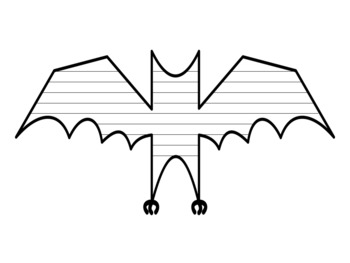 Bat Writing Paper With Lines Bat Template With Lines Bat Writing Template Paper