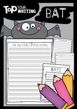 Bat Writing with Topper {Fall Activities}