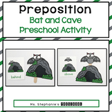Bat and Cave Preposition Activity