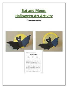 Bat and Moon: Halloween Art Activity