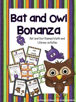 Bat and Owl Math and Literacy Centers and Activities