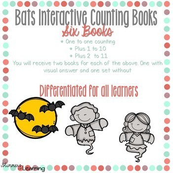 Bat's Counting and Addition Books: Interactive and Differentiated