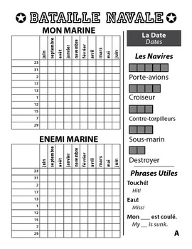Bataille Navale - French Battleship Game - Dates - La Date