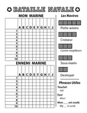 Bataille Navale - French Battleship Game - Letters and Numbers