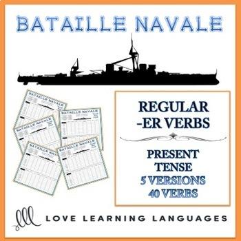 Bataille Navale - Regular French -ER Verbs