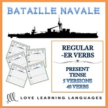 Bataille Navale - Regular French -ER Verbs