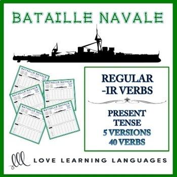 Bataille Navale - Regular French -IR Verbs
