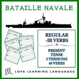 Bataille Navale - Regular French -IR Verbs