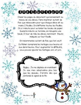 Bataille de boules de neige - heures