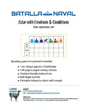 Batalla Naval Estar/Tener with Emotions - 2 Battleship games, Bellringer & Notes