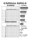 Batalla Naval - Spanish Battleship Game - Letters & Numbers