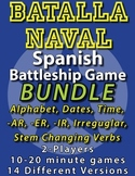 Spanish Battleship Game Bundle numbers dates time -ar -er